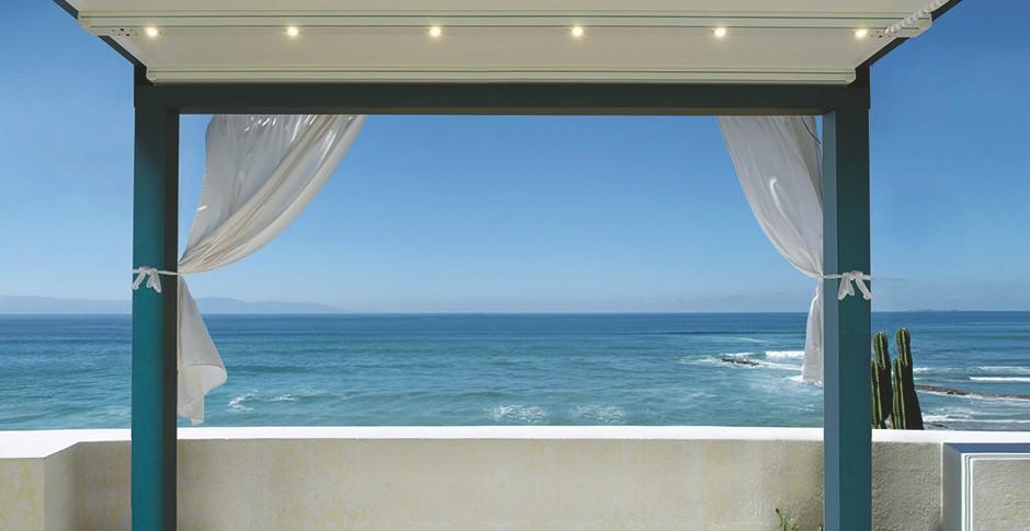 pergolas gennius a4 en aluminium a toile r tractable. Black Bedroom Furniture Sets. Home Design Ideas