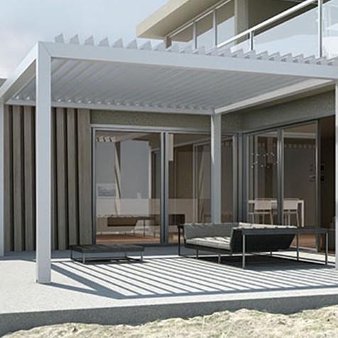 gennius kedry pergolas autoportante bio climatique lame orientable. Black Bedroom Furniture Sets. Home Design Ideas