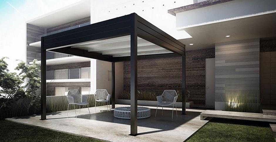 pergolas gennius i1 a toile r tractable horizontal. Black Bedroom Furniture Sets. Home Design Ideas