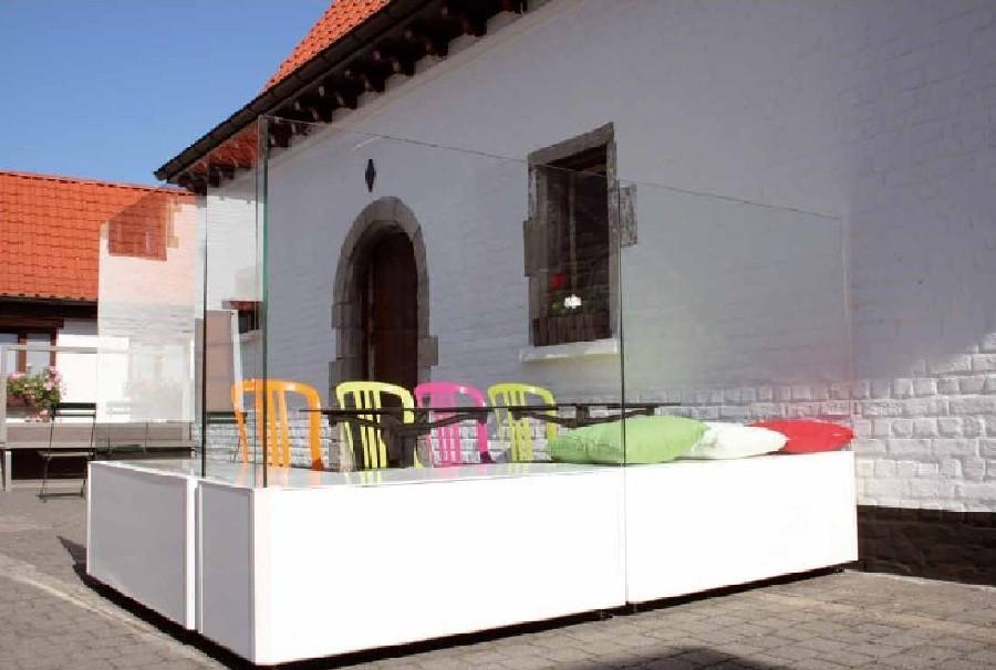 pare vent sitfleury moiti banc composite paroi en verre. Black Bedroom Furniture Sets. Home Design Ideas