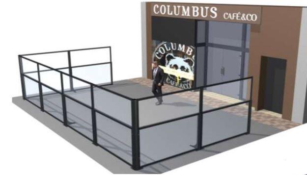 Claustra pliant pour terrasse de restaurant