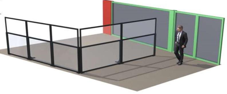 Pare-vent e-terrasses pliant pour restaurants, bars et hôtels