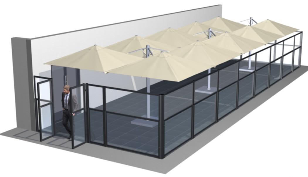 Paravent, pare-vent et claustra pliant TAORMINA de star progetti chez e-terrasses