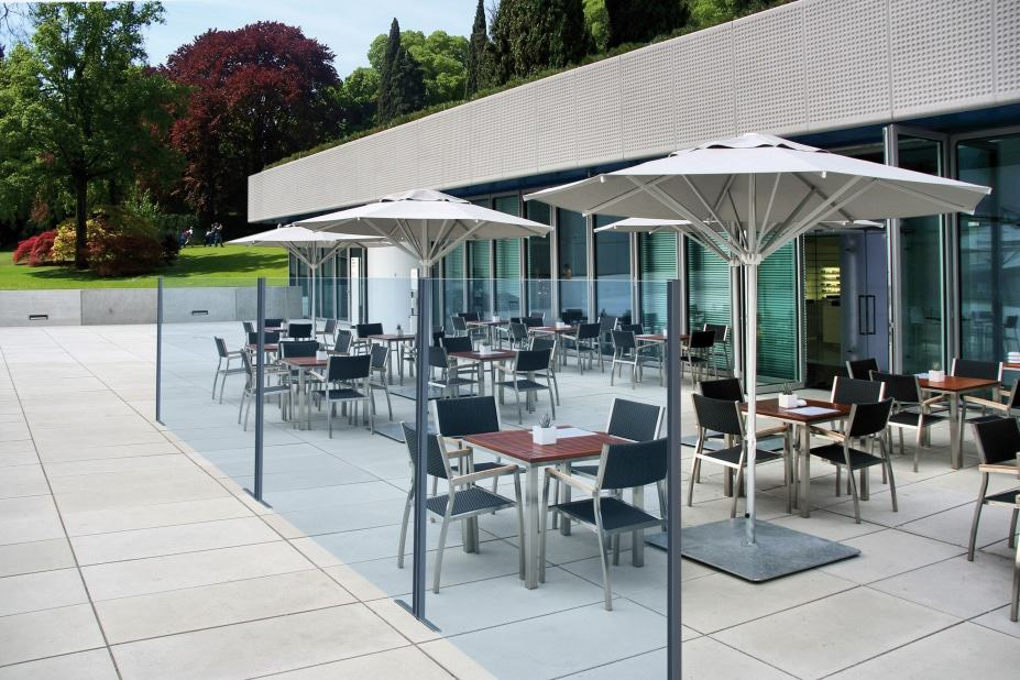 Paravent en verre VISION de E-Terrasses by Star progetti