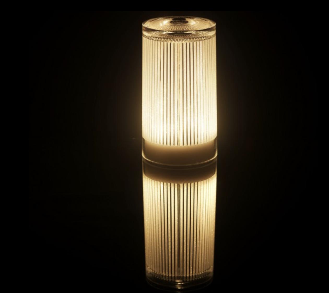 Lampe Plisée À Rechargeable Poser Glitter tsQdChrx
