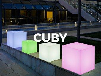 Decoration Lumineuse Cuby Parasol Professionnel Pour Terrasse