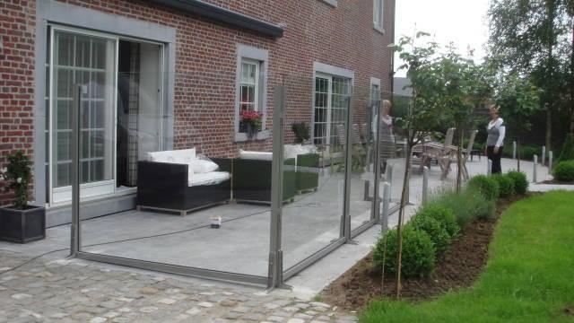 pare vent la roche structure en aluminium. Black Bedroom Furniture Sets. Home Design Ideas