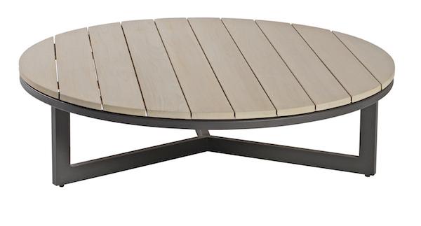 Table Ronde Terrasse venice coffee table ronde, rectangulaire ou carrée (teck gris et