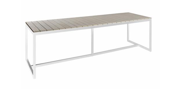 venice table rectangulaire ou ronde teck gris et aluminium de borek parasol professionnel. Black Bedroom Furniture Sets. Home Design Ideas